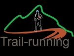 Trail running logo